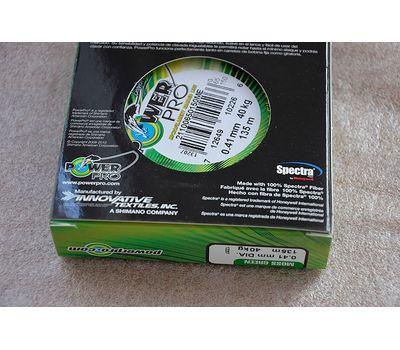 Шнур PowerPro Moss Green 135m 0.41mm 40kg, фото 6