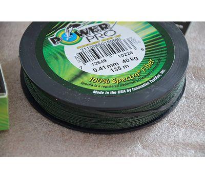 Шнур PowerPro Moss Green 135m 0.41mm 40kg, фото 12