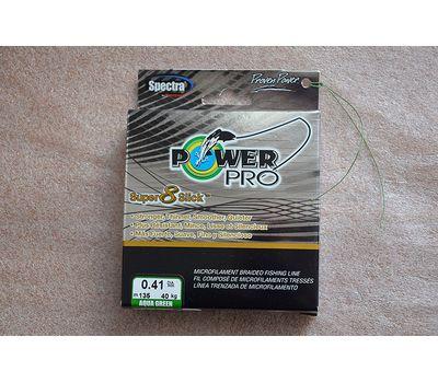 Шнур PowerPro Super 8 Slick 135m 0.41mm 40kg зеленый, фото 2