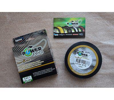 Шнур PowerPro Super 8 Slick 135m 0.41mm 40kg зеленый, фото 6