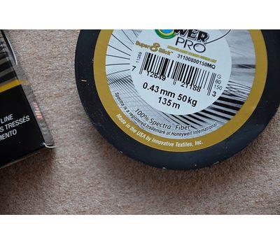 Шнур PowerPro Super 8 Slick 135m 0.43mm 50kg зеленый, фото 8