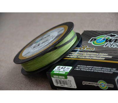 Шнур PowerPro Super 8 Slick 135m 0.43mm 50kg зеленый, фото 9