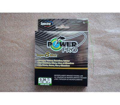 Шнур PowerPro Super 8 Slick 135m 0.36mm 30kg зеленый, фото 2