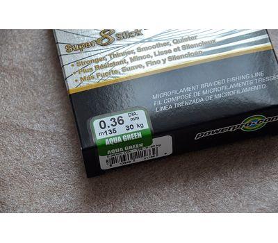 Шнур PowerPro Super 8 Slick 135m 0.36mm 30kg зеленый, фото 3