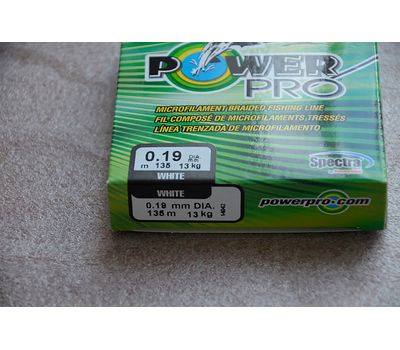 Шнур PowerPro Super Lines 135m 0.19mm 13kg белый, фото 3