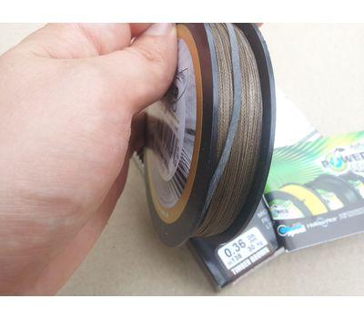 Шнур PowerPro Super 8 Slick 135m 0.43mm 50kg коричневый, фото 4